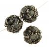 Rhinestone Bead 12mm Gunmetal/ Hematite